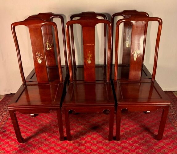Ensemble de six chaises en acajou