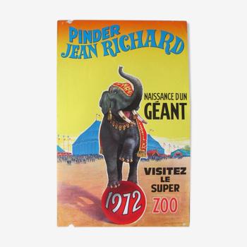 Advertising poster - Cirque Pinder Jean Richard - 1972