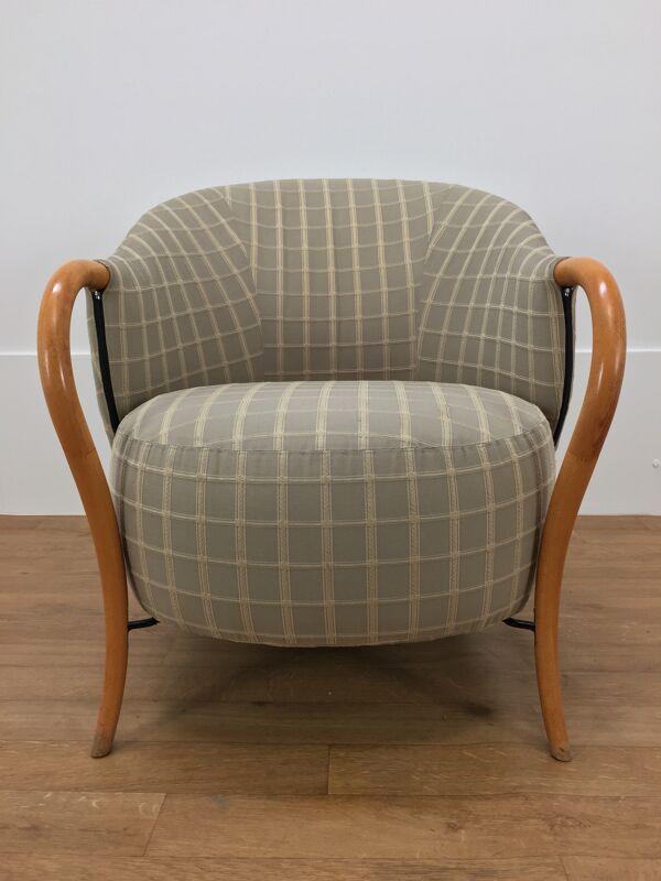 Paire de fauteuils Cinna design 80's