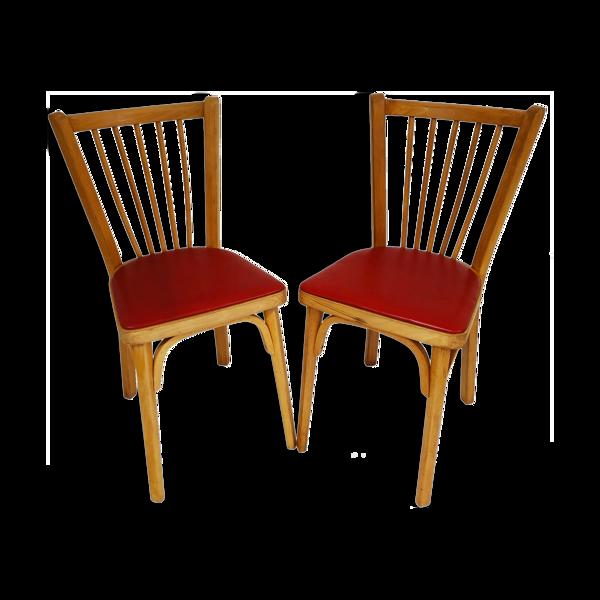 Selency Paire de chaises bistrot Baumann