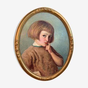 Portrait de fillette d'Alex Martin Louis