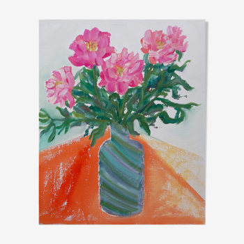 Bouquet de pivoines alla prima