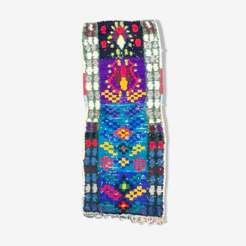 Tapis berbere boucherouite 75x230 cm