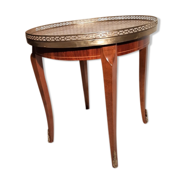Table basse ronde d'appoint style Louis XVI