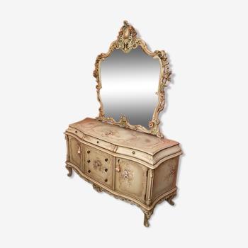 Commode avec miroir style vénitien