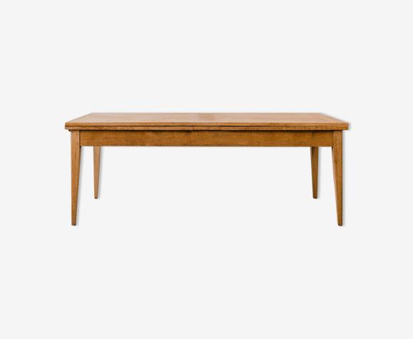 Table en chêne 2 rallonges « Mûre » – Pieds fuseaux