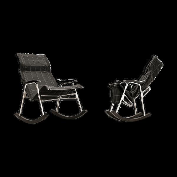 Paire de rocking chairs par T. Nii 1950s Japon