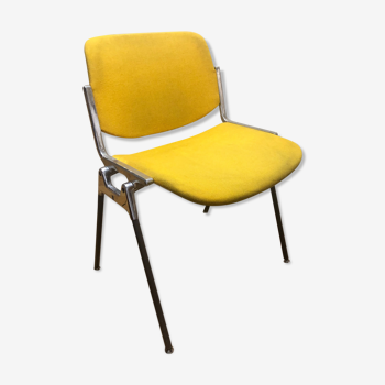 Chaise jaune de Giancarlo Piretti pour Castelli