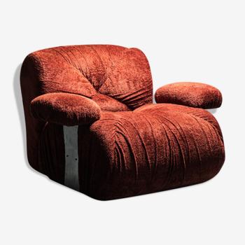 Armchair in chenille ceriotti 70