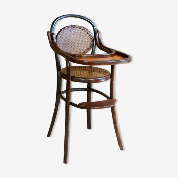 FISCHEL child high chair in curved wood