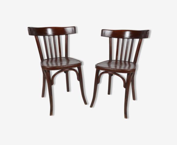 Paire de chaises de bistrots Fischel