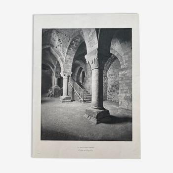 Heliogravure photograph of Mont Saint Michel 19th (Paul Dujardin)