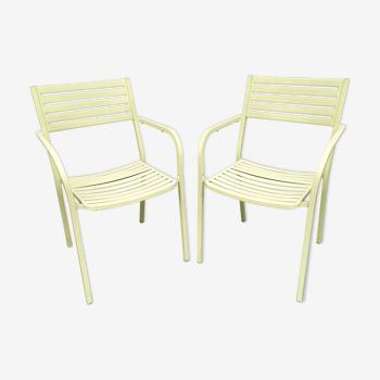 Paire de chaises de jardin OMU