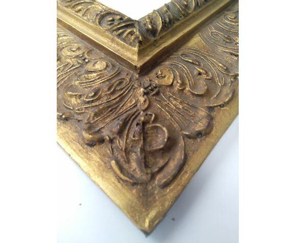 Cadre d'œuvre d'art géant sculpté et doré à la feuille d'or