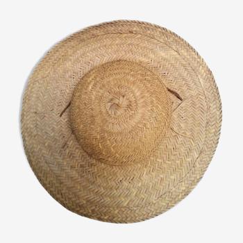 Chapeau fibres naturelles tressées