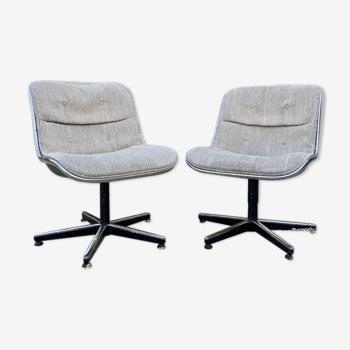 Paire de fauteuils de Charles Pollock édition Knoll 70