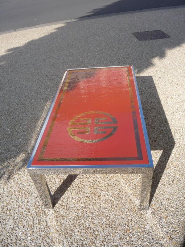 Table basse années 60 - 70 signée De Nisco