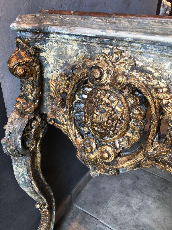 Console patinée style Louis XV