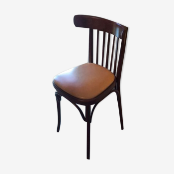Chaise bistrot assise skaï