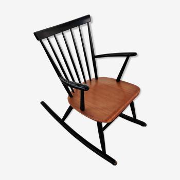 Rocking chair vintage scandinave années 60