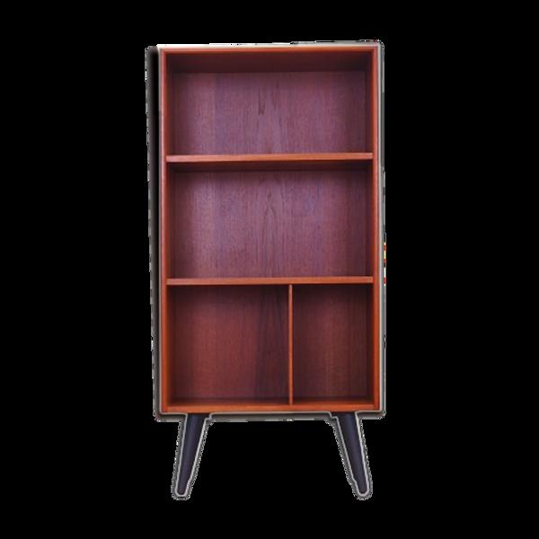 Bibliothèque en teck, design danois, années 1970, production: Danemark