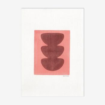 Peinture sur papier Illustration sans cadre M199