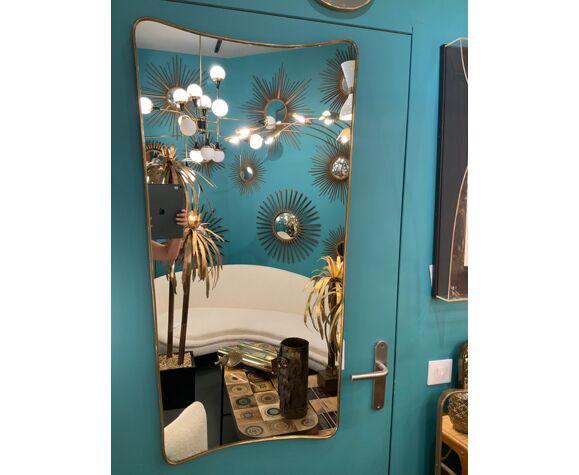 Miroir en laiton - 115x58cm