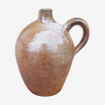 Jarre à huile en grès vernissé ancienne