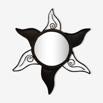 Miroir étoile fer forgé vintage 50cm