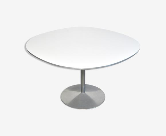 Table à manger ronde, «supercircular» de Piet Hein & Bruno Mathsson pour Fritz Hansen, années 1970