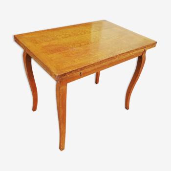Table vintage double plateaux