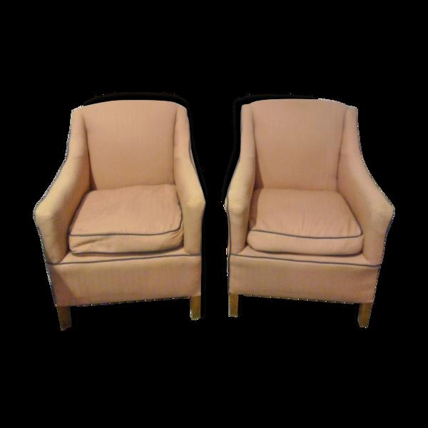 Paire de fauteuils années 40