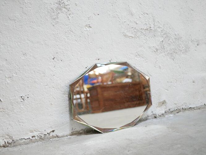 Miroir biseauté art déco vintage 30cm x 42cm