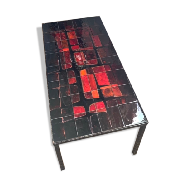 Table basse en céramique vintage 1960
