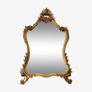 Miroir style baroque bois doré 1mx60cm