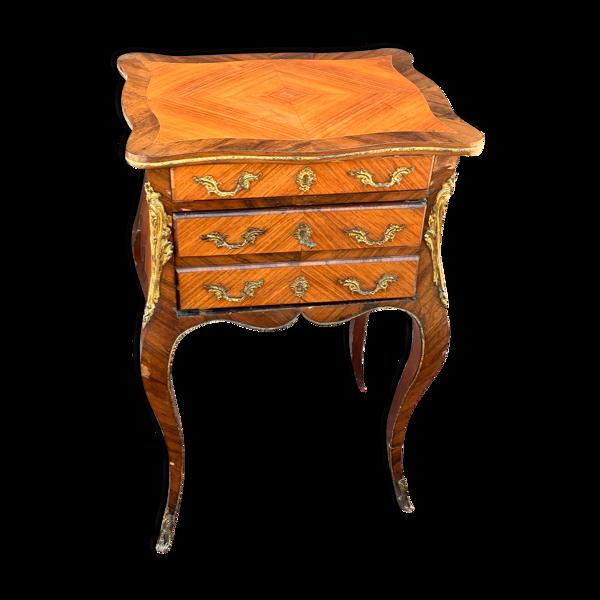 Selency Table chiffonnière en marqueterie d'époque Napoléon III
