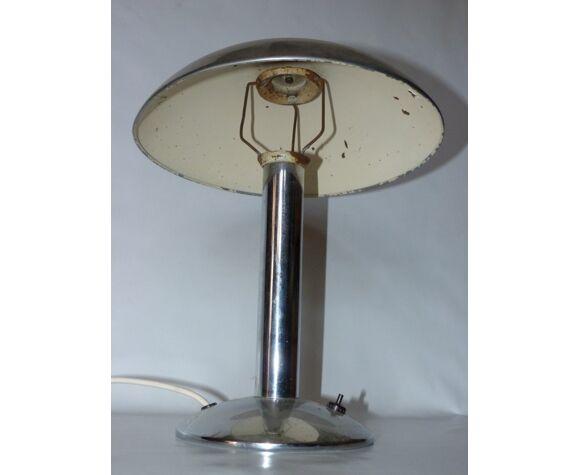 Lampe de bureau aux champignons chromés par Prokop Miloslav années 1930