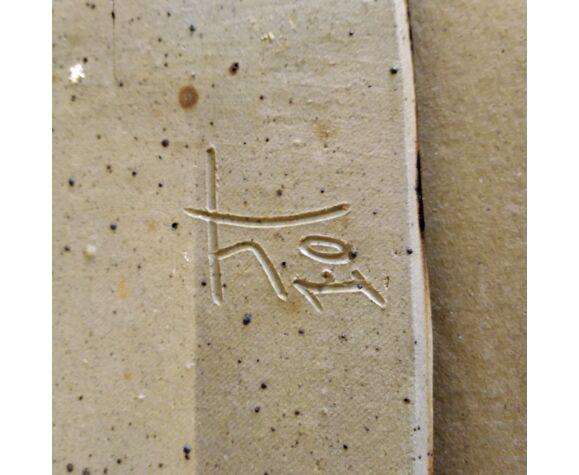 Vide poche en grès signé 1970