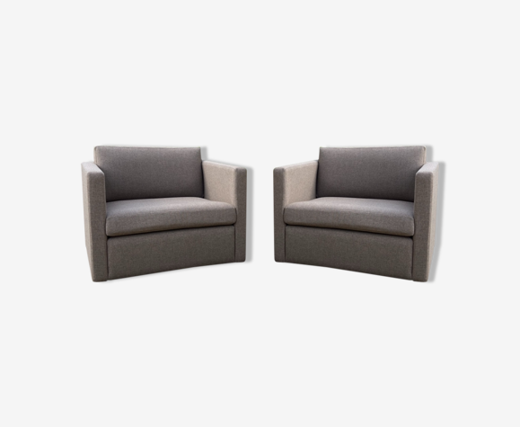 Pair of Knoll armchairs by Charles Pfister 1970