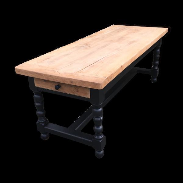 Selency Table salle à manger en bois massif