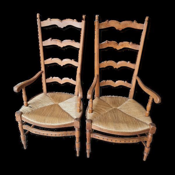 Paire de fauteuils provençaux