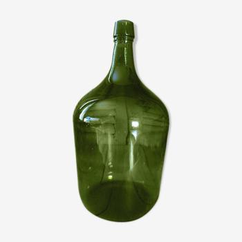 Dame jeanne vert olive bonbonne touque bouteille ancienne dp0421307