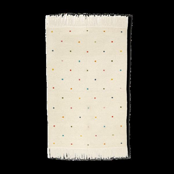 Kilim berbère avec carrés de couleurs 130 x 65 cm