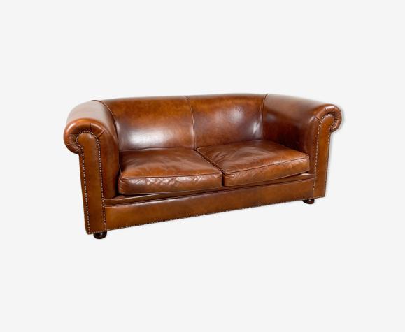 Canapé 2 places en cuir de mouton
