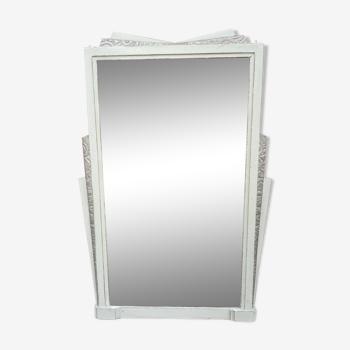 Mirror art deco beveled contour wood 124 X 80 cm
