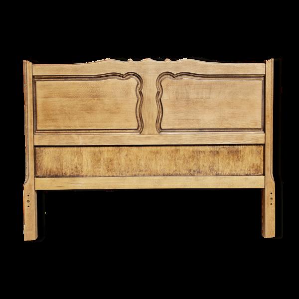 Tête de lit en chêne massif vintage relooké