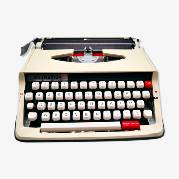 Machine à écrire brother brunsviga vintage révisée ruban neuf