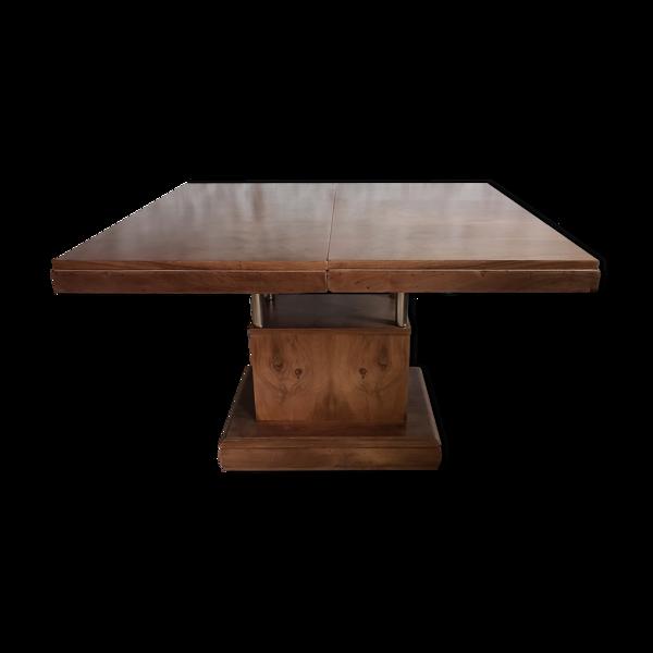 Selency Table art-déco en noyer