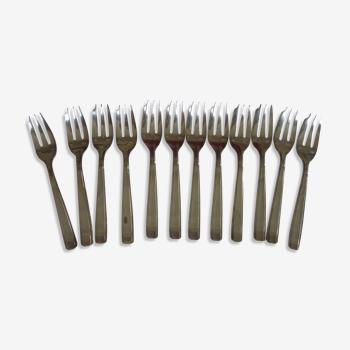 12 fourchettes a gateau metal argenté Argental