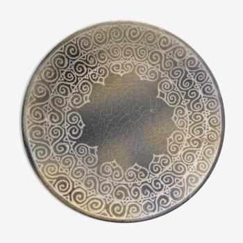 """Assiette céramique vintage signée """"Galerie Marie Stuart, Roscoff"""""""